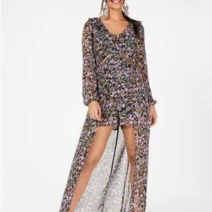 Material Girl cutout walk through dress romper s